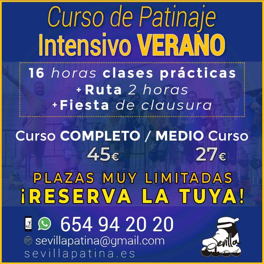 Curso de Patinaje en Línea en Sevilla · Verano 2020 · Sevilla Patina