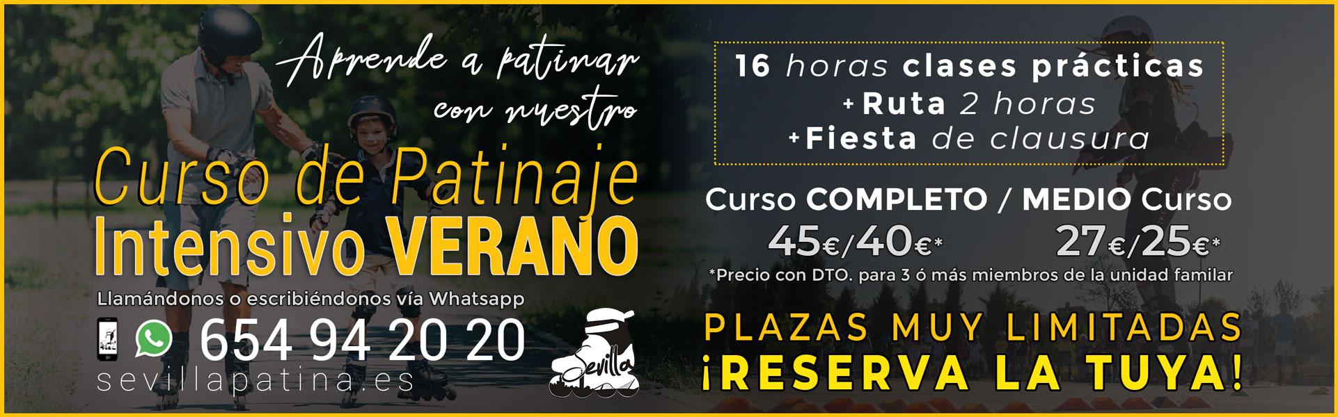 Curso de Patinaje en Línea en Sevilla · Verano 2021 · Sevilla Patina